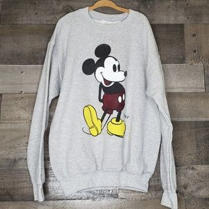 Mickey Mouse Pullover Sweatshirt Grey Youth M